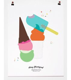 Frozen Fantasies: Ice Cream + Popsicle Treats For The Home.   Pancake & Franks print.