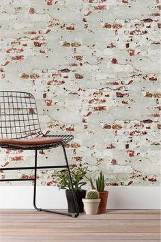 Next Paste The Paper Distressed Brick Wallpaper - White