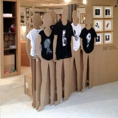 T shirt mannequins from 3 refrigerator boxes
