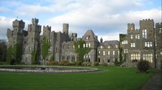 Ashford Castle, Cong, Ireland... Ashford Castle was founded in 1228, by the Anglo-Norman de Burgo family but today, this Irish gem overlooking Lough Corrib welcomes guests with 82 opulent rooms, featuring antique rosewood furniture, custom carpets, and bespoke beds complete with Egyptian cotton linens.