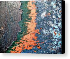 Layered Canvas Print by Onedayoneimage Photography.    layers, paint, abstract, scraped, patterns, peeling, peeled, scratched, scratches, blue, orange, gray, layered, removed, abstract photo, peeled, peeling, paint, abstract photography, weathered, surface, texture, textured, layers, wall, painted wall, scraped, scratched, decay, old, scratched wall, scraped wall, scraped paint, abstract art, home decor, office decor, wall art, interior design