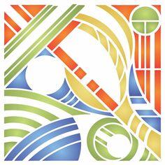 Abstract Art Stencil Stencils, Abstract Art, Craft Ideas, Wall, Artwork, Pattern, Crafts, Art Work, Work Of Art