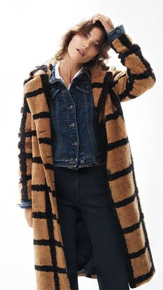 cae623976a7684 Berber-Checked Coat | Jackets for Fall Mature Women Fashion, Fashion Tips  For Women. Anthropologie