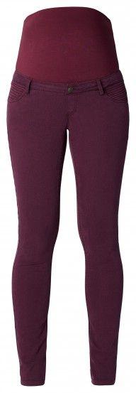 Tehotenské nohavice  ESPRIT MATERNITY - tmavočervená