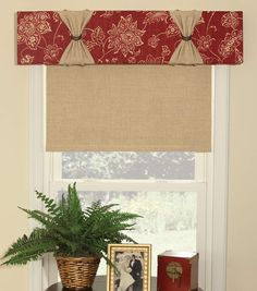 Diy valance without a sewing machine kitchen pinterest valance june tailor quickeasy cornice no sew window treatment kit solutioingenieria Choice Image