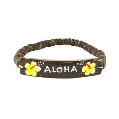 Hawaiian Coconut Aloha Yellow Flower Bracelet ($5.95) ❤ liked on Polyvore featuring jewelry, bracelets, hawaiian bangles, flower bangle, blossom jewelry, flower jewelry and flower jewellery