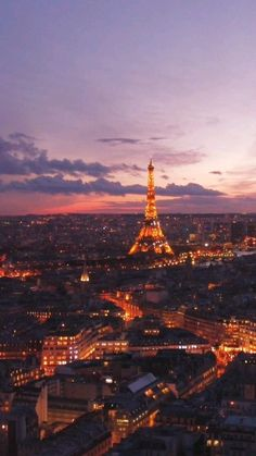 Eiffel Tower during sunset