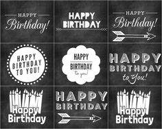 Krijtbord verjaardagskaarten via | refreshrestyle.com