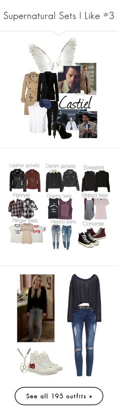 """""""Supernatural Sets I Like #3"""" by kelseystan97 ❤ liked on Polyvore featuring Vila Milano, Burberry, Alexander McQueen, T By Alexander Wang, Lanvin, MICHAEL Michael Kors, MuuBaa, H&M, IRO and Abercrombie & Fitch"""
