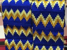 Hand woven kente/ blue  kente/ African kente/ African wedding dress/Wedding Attire/ Akan kente cloth/Ghanaian fabric/Bride and Groom outfit/
