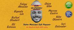 Agenda Cultural RJ: Teatro Café Pequeno - Clube da Comédia Carioca che...