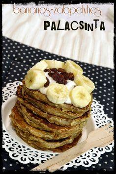 Banános-zabpelyhes palacsinta Waffles, Pancakes, Gardening, Foods, Breakfast, Food Food, Morning Coffee, Food Items, Lawn And Garden