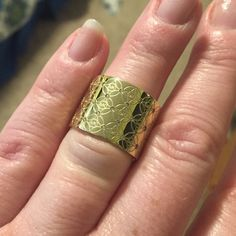 MK Gold Logo Ring Michael Kors Mkj4288710 Women's Gold Mk Logo Monogram Etched Ring Sz 8 Brand New. No Trades Michael Kors Jewelry Rings