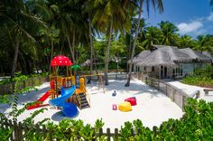 Fabulous sand pit for children in Maldives. This villa is family-friendly and we do have a great deal to bring all your family with you in Maldives! Save this pin on your family vacation inspiration board!