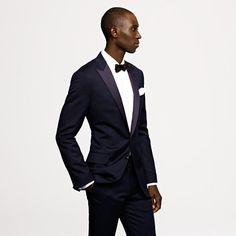 Ludlow tuxedo in midnight blue Italian wool