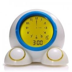 Best Toddler Alarm Clocks - teaches your little one times and can be set to change color to let you child know when it is ok to get up... you know, after 5am