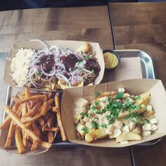 Frittenwerk - Die Pommesmanufaktur. Poutine. fresh food fast. Sweet Potatoes. healthy streetfood. fresh to go. love this shit. unique food. pornfood. imbiss. pommes. fritten. french fries. good dips and sauces.
