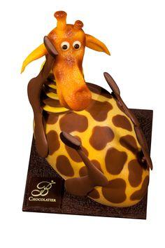 L'œuf-girafe de Jacques et Vianney Bellang chocolatier (Relais Desserts)