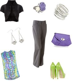 Neons and Neutrals, created by rchmsj6 on Polyvore