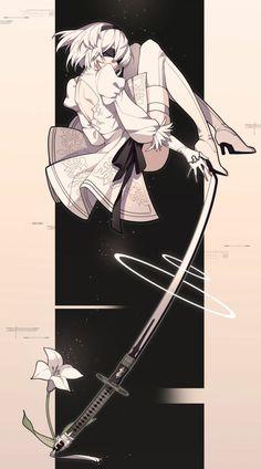 Nier Automata 2, Alita Battle Angel Manga, Drakengard Nier, Character Art, Character Design, Cartoon As Anime, Arte Cyberpunk, Nature Sketch, Anime Furry