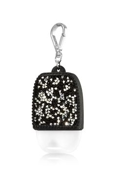 Glitzy Gems - Black & Silver - PocketBac Holder - Bath & Body Works - Shimmer & shine with these glittering gems! A convenient clip attaches to your backpack, purse and more so you can always keep your favorite sanitizer close at hand. Bath Body Works, Bath N Body, Bath And Body Works Perfume, Hand Sanitizer Holder, Piel Natural, Bath And Bodyworks, Body Lotions, Backpack Purse, Clutch Purse