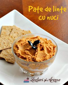 A delicious red lentil pate with some walnut add in. Vegan Breakfast Recipes, Delicious Vegan Recipes, Vegetarian Recipes, Tasty, Yummy Food, Pate Recipes, Cooking App, Work Meals, Vegan Meal Plans