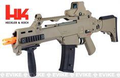 H&K G36CV Carbine Airsoft Blowback AEG Rifle by ARES / Umarex - (Flat Dark Earth), Airsoft Guns, Airsoft Electric Rifles, UMAREXUSA - Evike....