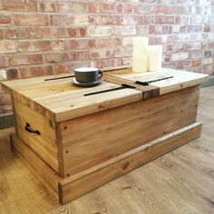 Handmade Rustic Wooden Chest Large Trunk Pine Blanket Toy Box or Coffee Table by HandmadeFurnitStudio on Etsy https://www.etsy.com/uk/listing/525076950/handmade-rustic-wooden-chest-large-trunk