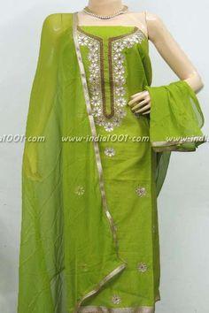 Beautiful Chanderi Cotton Unstitched Suit fabric