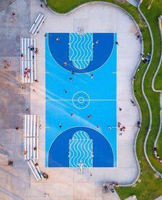 Basketball Photoshoot Editorial - Basketball Tattoos Shoulder - Basketball Drills For Tryouts - Basketball Net Sketch - Urban Landscape, Landscape Design, Landscape Arquitecture, Floor Graphics, Sport Park, Playground Design, Playground Flooring, Urban Architecture, Parking Design