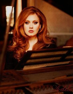 Adele with more stunning hair. how does she make big hair look so good?