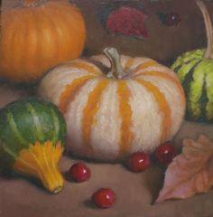 Debra Becks Cooper — Little Gourds Autumn Still Life (784x800)