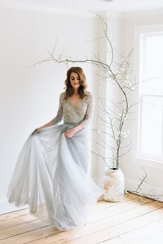 Bridal editorial with Ava Flora, Alexandra Grecco, Samantha Linn and Ipanema Press in Cold Spring Harbor, NY photographed by NY wedding photographer, Michelle Lange. Christmas Wedding Flowers, Evergreen Wedding, Blue Wedding Gowns, Wedding Dresses, Cold Spring Harbor, Winter Colors, Something Beautiful, Floral Design, New York