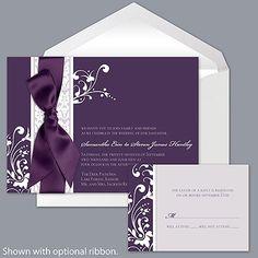 #DBBridalStyle Forever Color - Plum - Invitation i love this invite!!