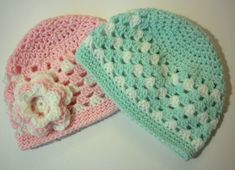Free pattern Ravelry: Granny Stripe Baby Hat pattern by The Quiet Koala