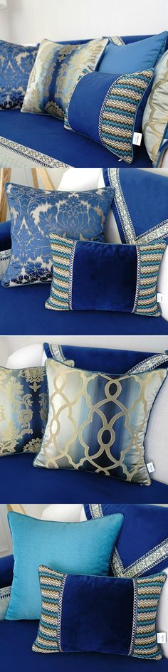 Decorative Cushion Cover / Home Decor Square Cushion Case / Luxury Europe Style Cushion Cover $15.79