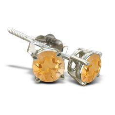 #engagementrings #weddingbands .60ct Citrine Stud Earrings in 14k White Gold: For all of you November Birthstone babies, here… #diamondrings