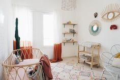 Heavenly boho nursery - natural materials, DIY + rattan