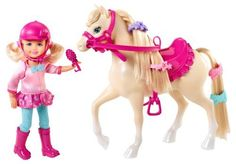 Barbie and Her Sisters in a Pony Tale Chelsea and Pony Doll Set (746775171063) Inspired by the new Barbie Movie, Barbie and Her Sisters in A Pony Tale Girls can recreate their favorite scenes from the new Barbie movie Barbie and her sisters head to the horse academy and make some new animal friends This playset celebrates the friendship between Chelsea and her beloved pony Collect all of your favorite Barbie in A Pony Tale Dolls and Accessories