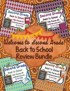 Welcome to Second Grade! Second Grade Beginning of the Year Review BUNDLE. This is a bundle of my four beginning-of-the-year reviews that cover every first grade Common Core Math Standard.