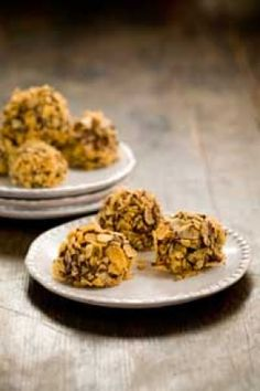 Chocolate Peanut Butter Balls - We make these every year, but we don't roll them in corm flakes.