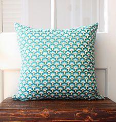 ed & hoolia cushion - denim backed cushions with Soft Cactus fabric