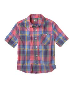 Love this Periwinkle Blue Plaid Button-Up - Infant, Toddler & Boys by RUUM on #zulily! #zulilyfinds