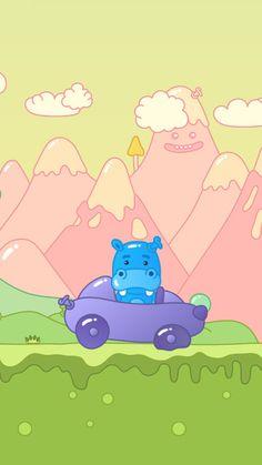 Pump up Hippo's flat tire.