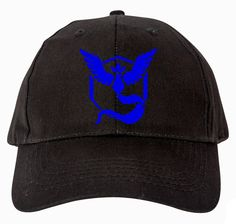 Go Team Mystic!  Perfect Hat to wear while you are out playing the newest hit game, Pokemon Go! Just may help lure rare pokemons! 😉   Cotton :  100% Sizes:  One Size Features: 100% cotton twill 6-panel, structured low-profile front panel constructed with buckram matching Velcro® closure Print professionally pressed on the cap using a heat press.  We custom make your Hats after receiving your order and confirmation of payment.