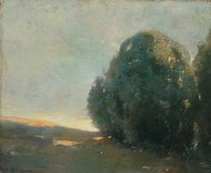 """Sunset,"" Emil Carlsen, 1910, oil on canvas, 10 x 12"", private collection."