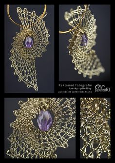 Pendant IV. - bobbin lace by Junior-rk.deviantart.com on @deviantART