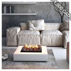 Freestanding electric fireplace Dickinson with water vapour