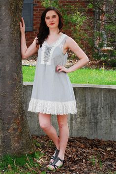 Lace Trimmed Summer Dress