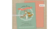 Etsy find of the day - woodland baby shower invitation